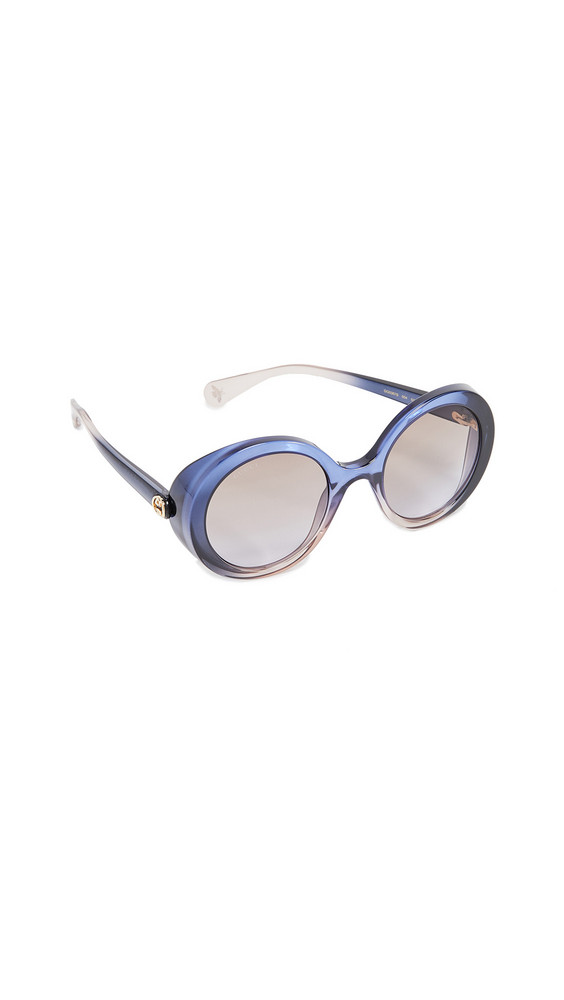 Gucci Glamorous Bold Round Sunglasses in blue / brown / lilac