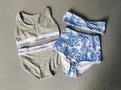 swimwear,grey,highwaitsed,vintage,calvin klein,underwear