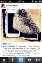 bag,iphone furry case