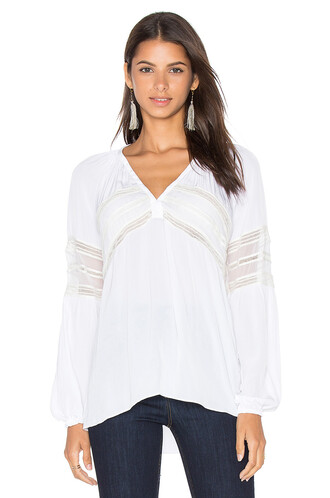 blouse embellished white top