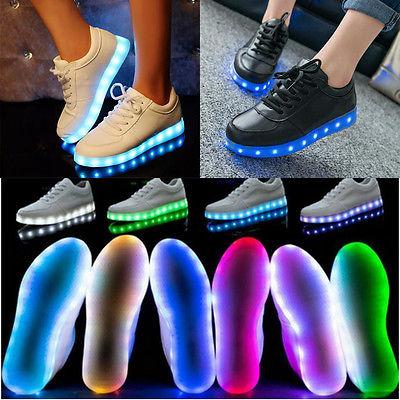Up Sneaker Sportswear Unisex Shoes Luminous Light Lace Led wgxwqHzvt