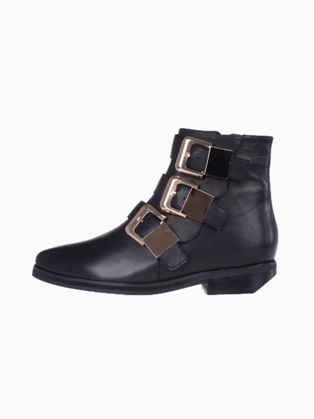 Point Ankle Boots With Buckle - Choies.com