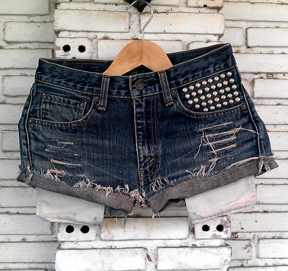 Vintage Studded Shorts 29 Waist by KodChaPhorn on Etsy