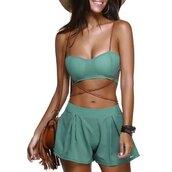 romper,fashion,tan,trendy,summer,green,hot,sexy,trendsgal.com
