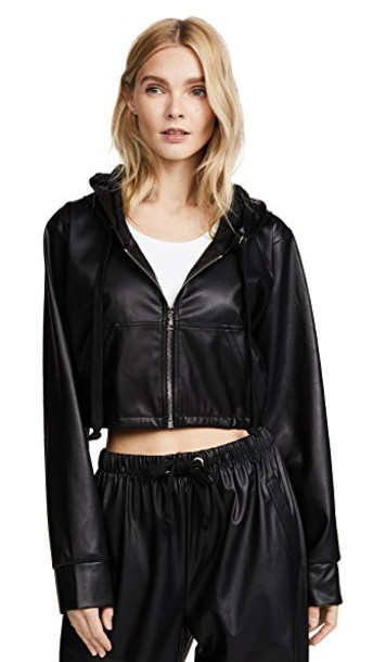 Natasha Zinko jacket zip leather black