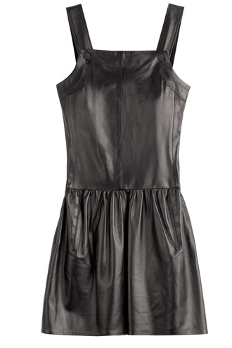 dress leather dress leather black