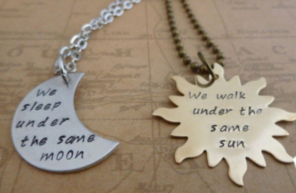 Jewels, Necklace, Sun, Moon, Love Quotes