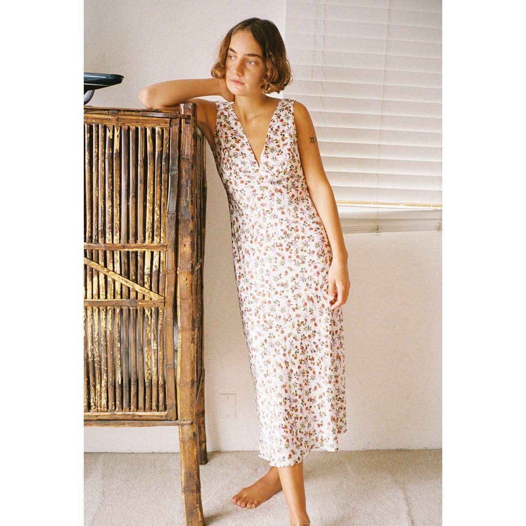 Caterina Dress Garden Silk
