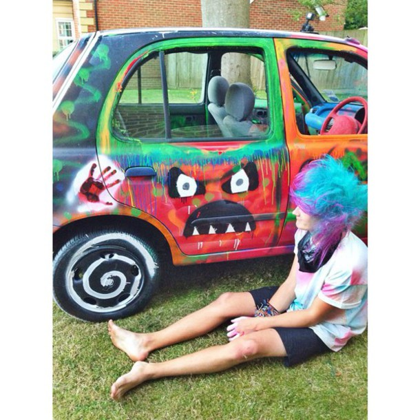 shirt veeoneeye car blue purple dress tie dye t shirt art colorful purple hair blue. Black Bedroom Furniture Sets. Home Design Ideas