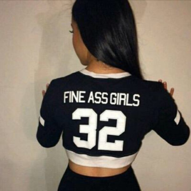 a2d21cc11 shirt girl black and white jersey fine ass girls black and white shirt  jersey tee shirt