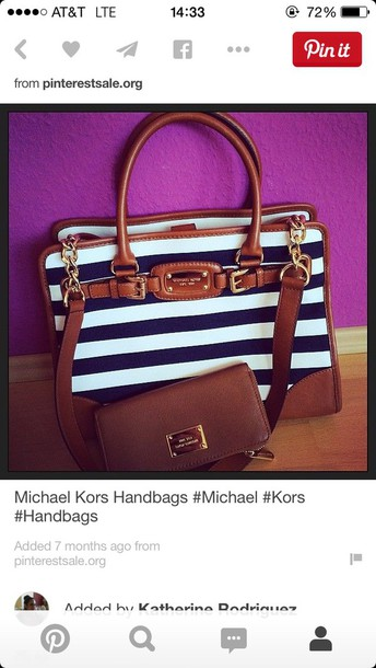 bag michael kors striped tote