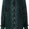 Sea paisley print open lace blouse, women's, size: 4, green, cotton