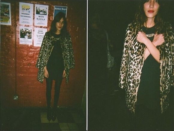 faux jacket fur winter outfits leopard coat alexa chung autumn leopard print