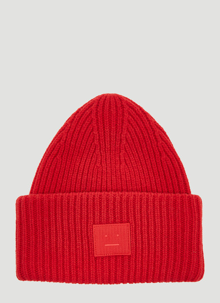 Acne Studios Pansy Face Hat in Red size One Size