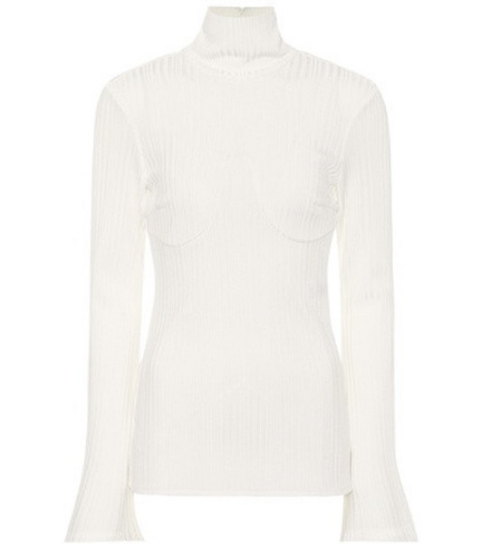 Ellery Kinetic ribbed turtleneck sweater in white