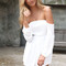 Off-white jump suits/rompers - chiffon ivory off the shoulder | ustrendy