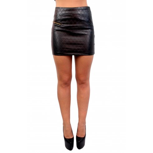 Quilted Leather Skirt - Parisia Fashion