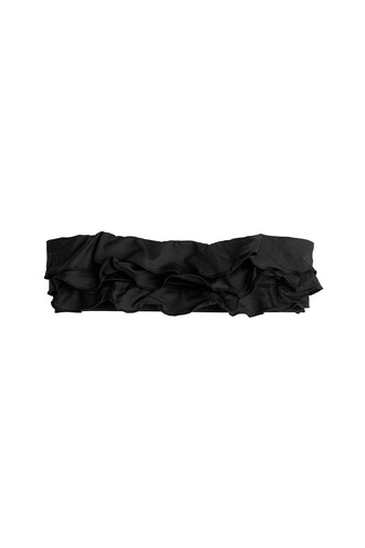 bikini bikini top ruffle bandeau bikini bandeau bikini ruffle black swimwear