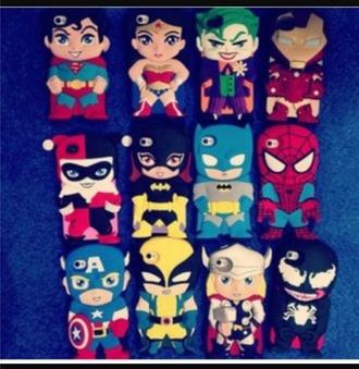 phone cover superheroes villains dc comics marvel comics
