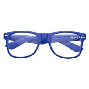 Amazon.com: MJ Boutique's Glossy Blue Wayfarer Nerd Glasses Clear Lens: Everything Else