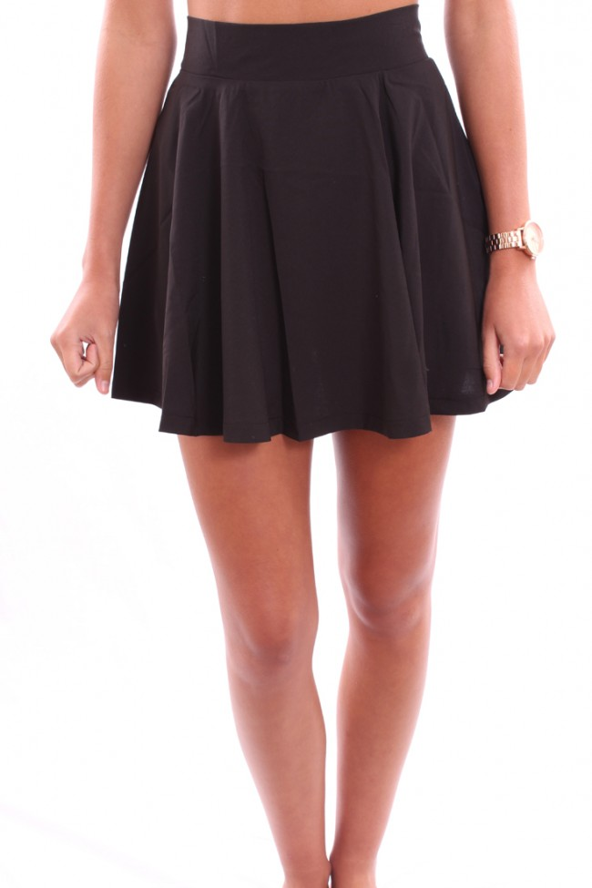 Waisted Short Skater Skirt