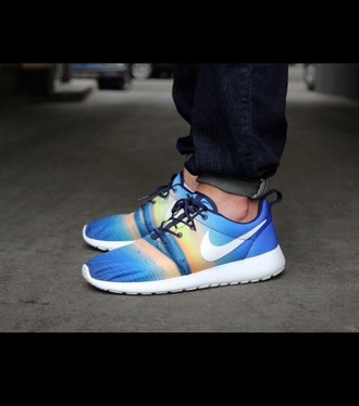 shoes blue shoes roshes