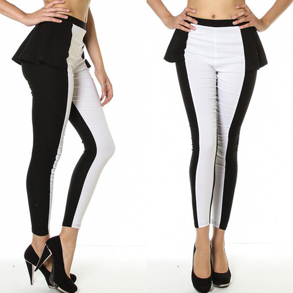 black white runway pants paris leggings vanity vanity row dress to kill peplum rocker vogue