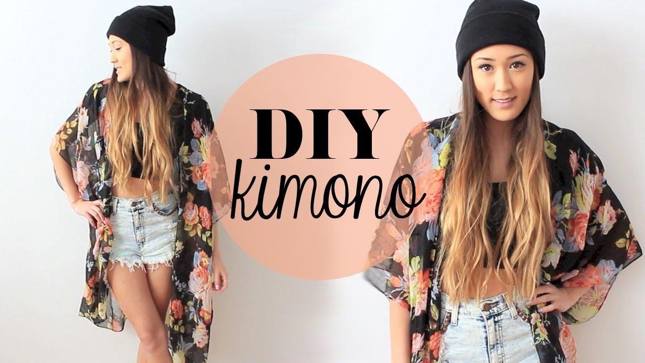 DIY: Easy Kimono | LaurDIY - YouTube