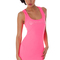 Goddiva bodycon vest dress