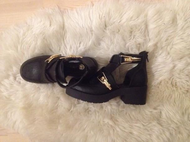 shoes cut out ankle boots cut out ankle boots black riverisland river island gold