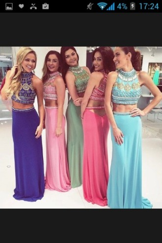 dress crop top dress girl arabic pink dress blue dress green dress princess dress