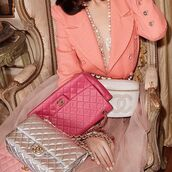bag,nastygal,chanel,vintage chanel,quilted,pink,leather,luxe,luxury,designer