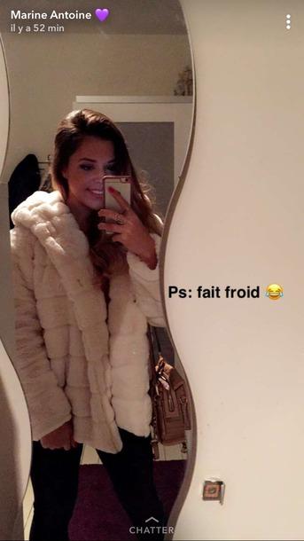 coat manteau en fourrure manteau