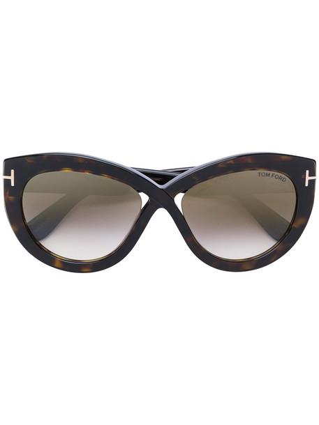 Tom Ford Eyewear - Diane 02 sunglasses - women - Acetate - 56, Brown, Acetate