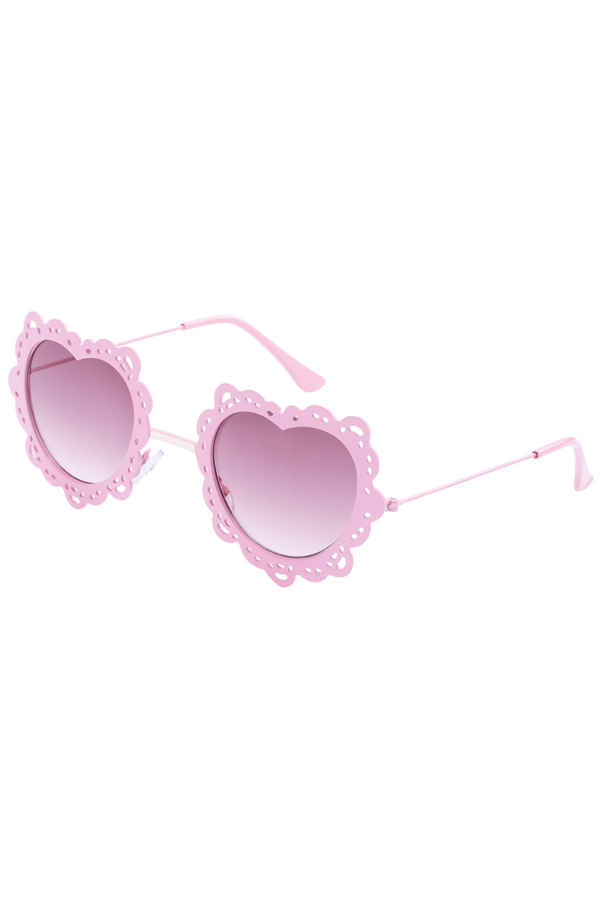 ROMWE | ROMWE Pink Heart-shaped Frame Sunglasses, The Latest Street Fashion