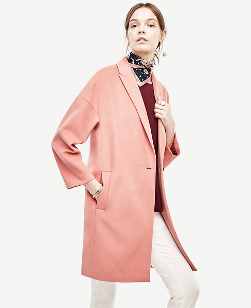 Cocoon Coat   Ann Taylor