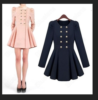 coat flowy buttons gold classy cute style