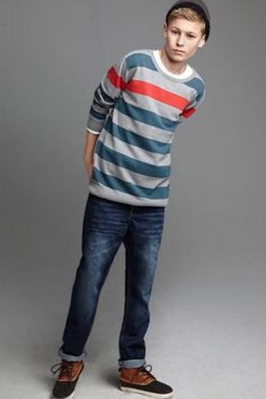 guys long sleeves stripes