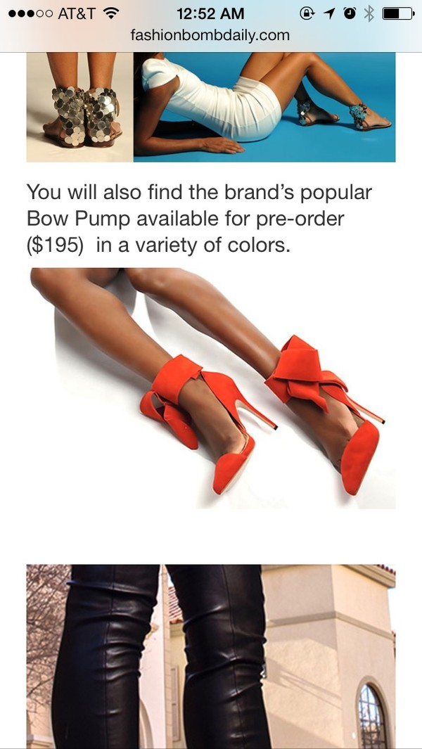 shoes bow heels
