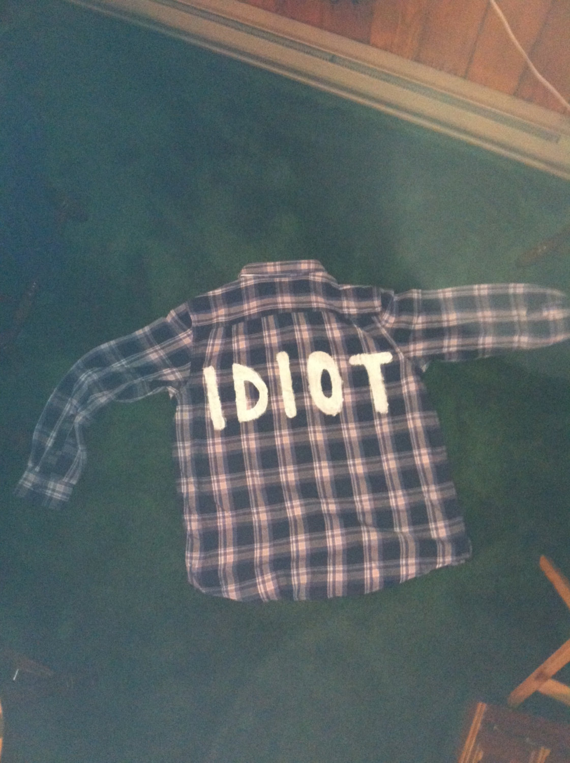 Blue Idiot Flannel Inspired By Michael Clifford