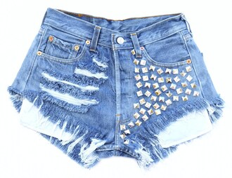 shorts jeans streetwear high waisted shorts levi ripped shorts destroyed shorts studded shorts pants