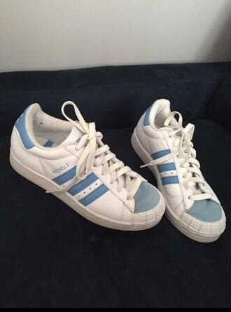 shoes adidas blue white aesthetic soft pale soft grunge grunge aquatic health goth aesthetic tumblr
