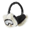 Karl lagerfeld - ear muffs with leather