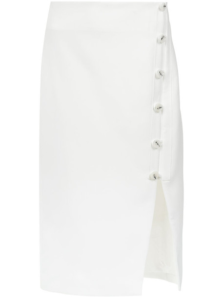 EGREY skirt midi skirt women midi white cotton