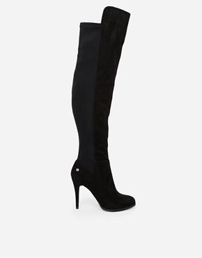 Blink | Blink Stretch Heeled Over The Knee Boots at ASOS