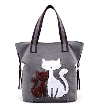 bag cats bad tote bag travel purse carry on
