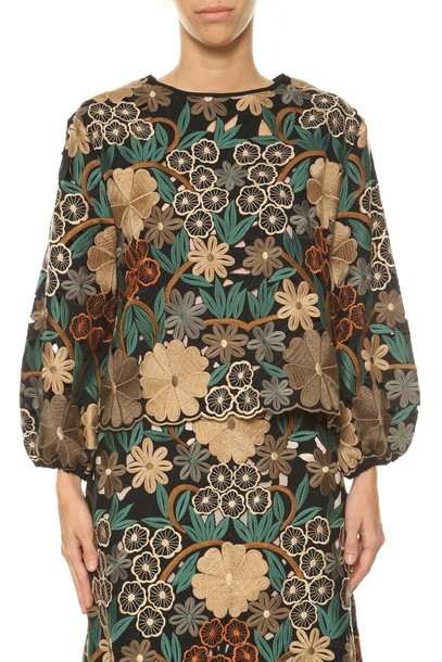 RED VALENTINO blouse embroidered top