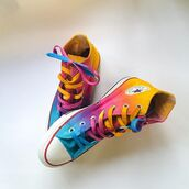 shoes,tie dye shoes,tie dye,custom shoes,custom converse,tie dye converse,festival,sunrise,sunset,fashion bloggers,freespirit,intellexual design