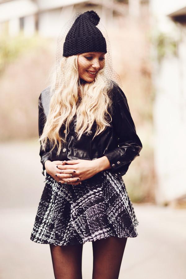 hat beanie mesh beanie Choies black hat fashionblogger