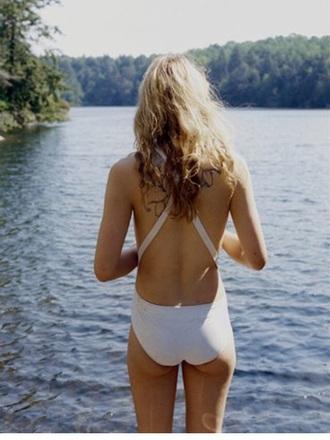 swimwear one piece swimsuit bikini off-white